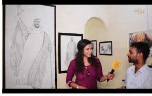 An artist who sketched the royal history of UAE